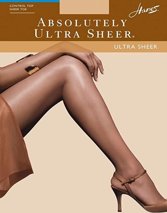 Hanes Absolutely Ultra Sheer Control Top Sheer Toe Pantyhose