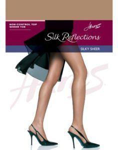 Hanes Women`s Silk Reflections Non-Control Top Sheer Toe Pantyhose