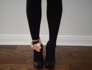 Wear anklet outside Pantyhose