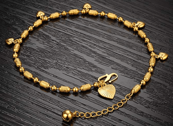 OPK Jewelry 18k Gold Plated Women Anklet